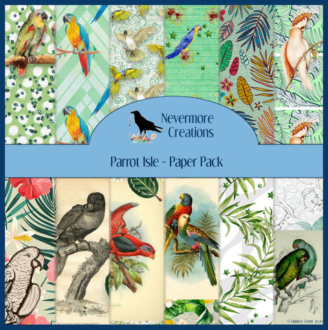 Parrot Isle PRINTED Paper Pack 24 Pages