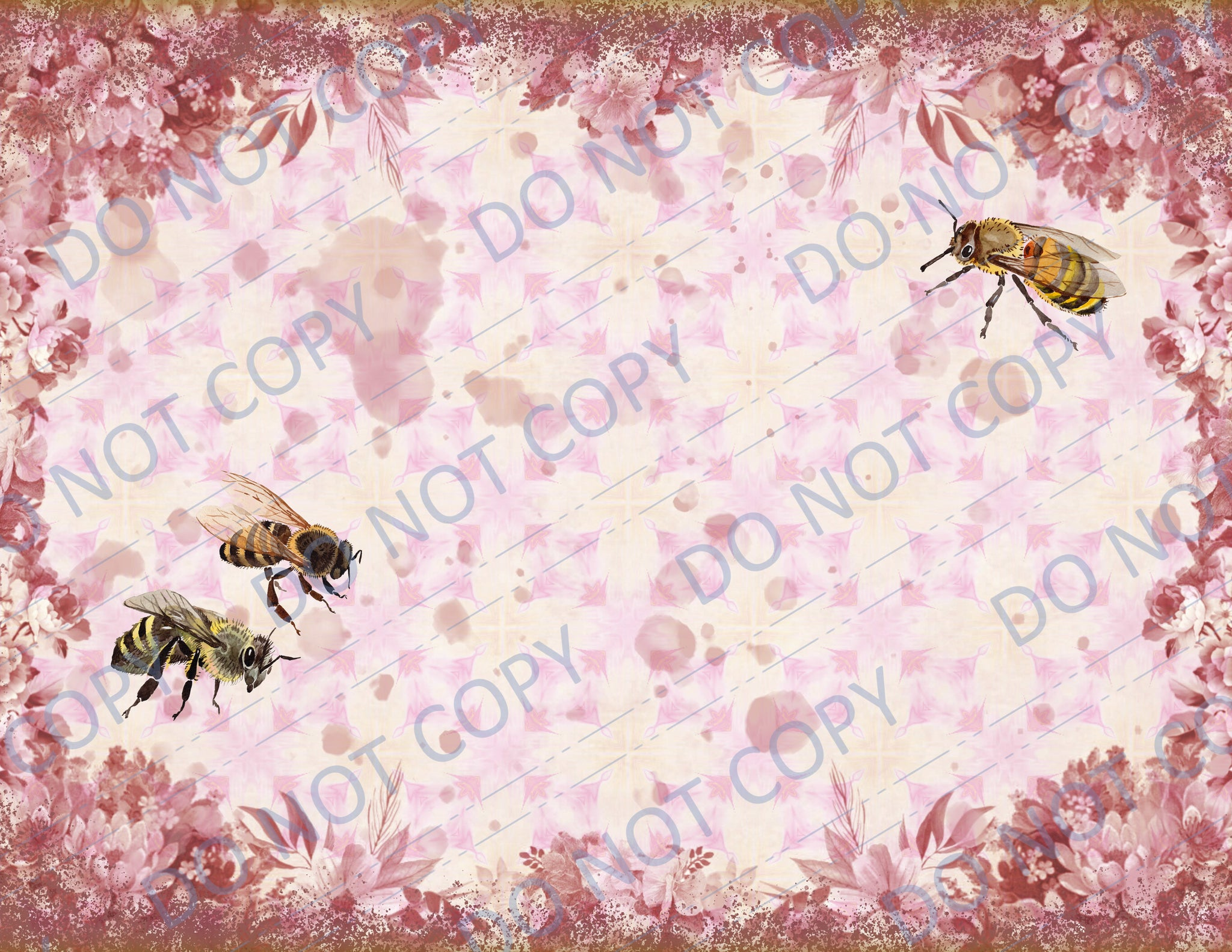 Pink & Yellow Bees DIGITAL Paper Pack