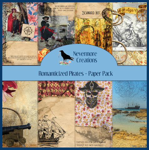 Romanticized Pirates DIGITAL Paper Pack