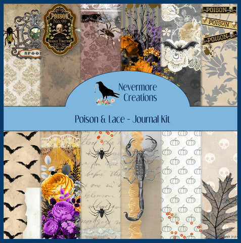 Poison & Lace DIGITAL Journal Kit