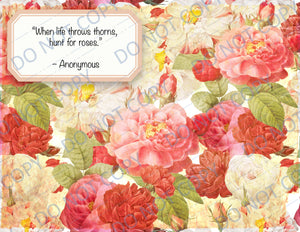Rose Quotes DIGITAL Booster Paper Pack 4 pages