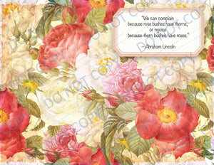 Rose Quotes PRINTED Booster Paper Pack 4 pages
