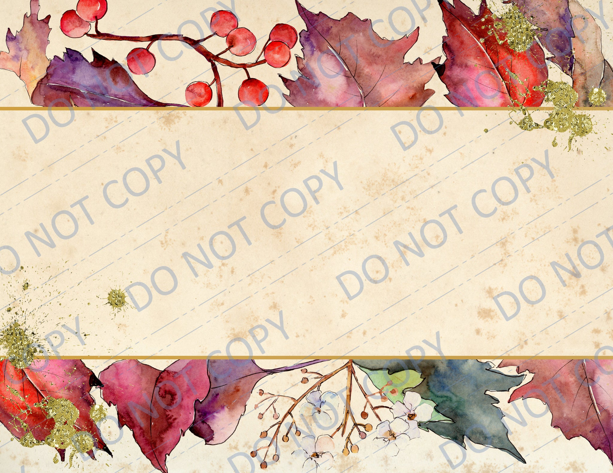 Rustling Autumn Leaves PRINTED Paper Pack
