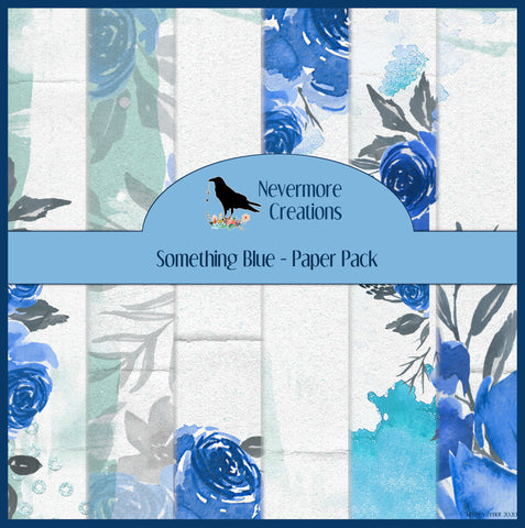 Something Blue PRINTED Paper Pack