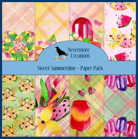 Sweet Summertime DIGITAL Paper Pack
