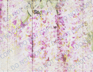 Wisteria & Hydrangea PRINTED Junk Journal Kit