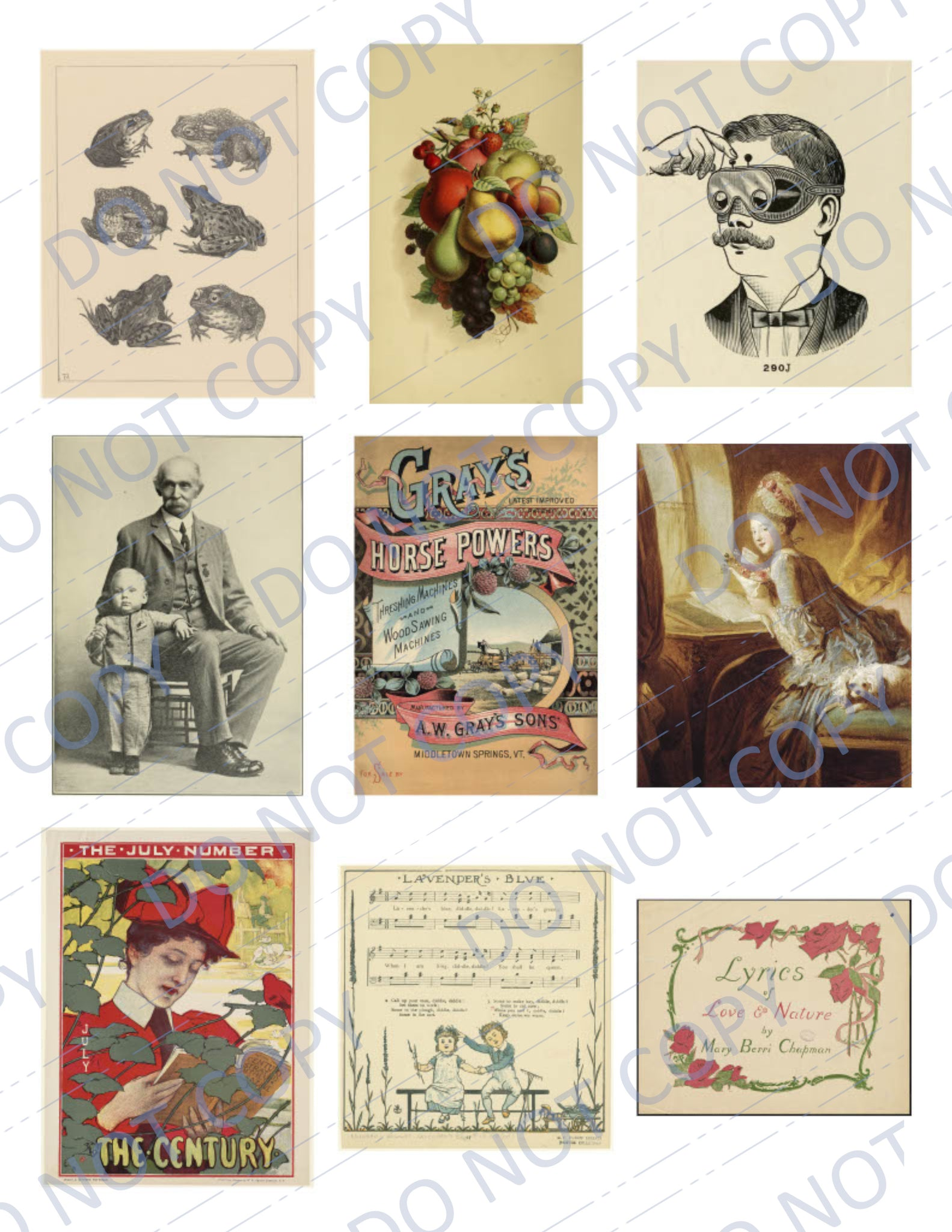 Miscellany PRINTED Ephemera Pack - 45 Images