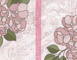 Pink Floral Maps DIGITAL Booster Paper Pack & Elements - 8 Pages