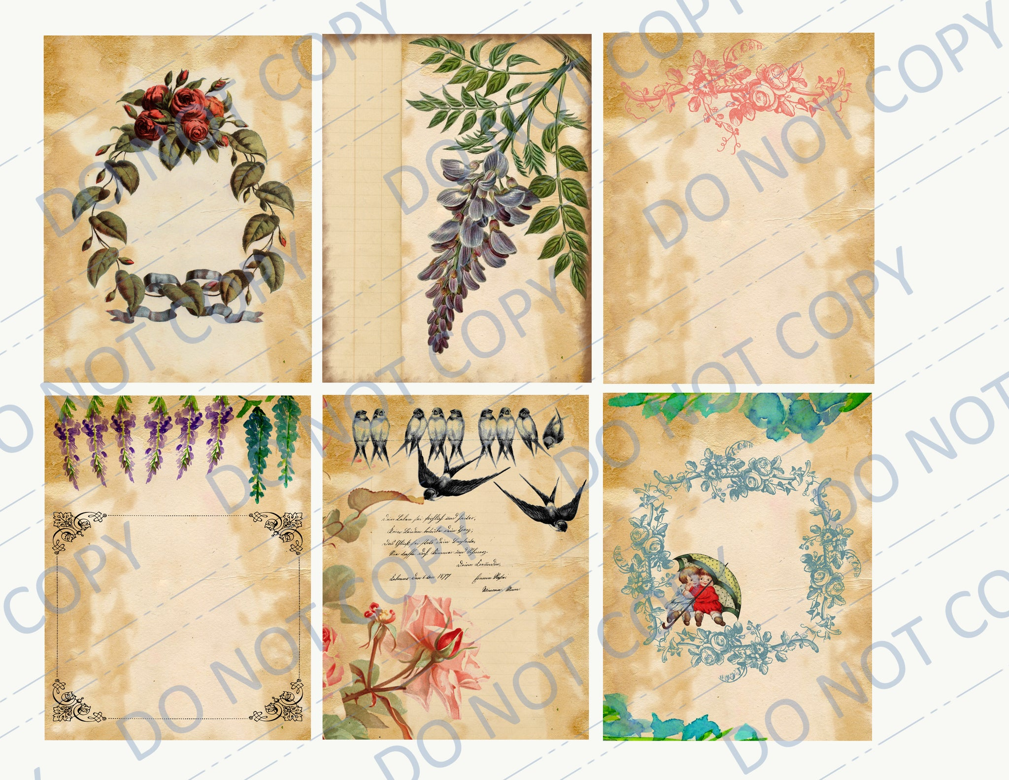Wisteria & Roses PRINTED Journal Kit