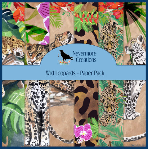 Wild Leopards DIGITAL Paper Pack