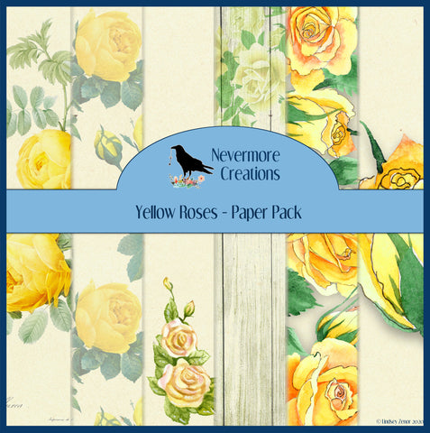 Yellow Roses DIGITAL Paper Pack
