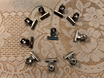 Mini Silver Binder Clips Set of 10 - LZ
