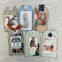 Sweet Collaged Tags by JoAnn
