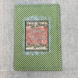 Flower Blossoms Cardstock Stitched Journal Cover by JoAnn