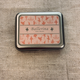 Ballerina Stamps in a Tin set of 9