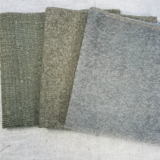Crushed Leaves Upholstery Fabric Set of 4 - JH