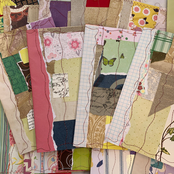 Collaged Scraps Junk Journal Covers - LZ