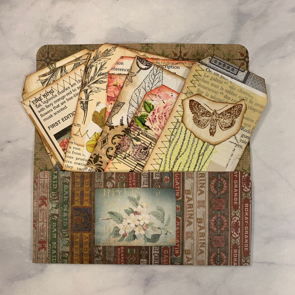 Pocket with Collaged Ephemera - JH