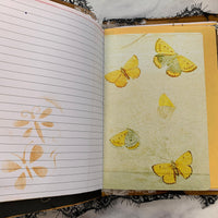 Bird & Butterfly Canvas Junk Journal by Sonali from India