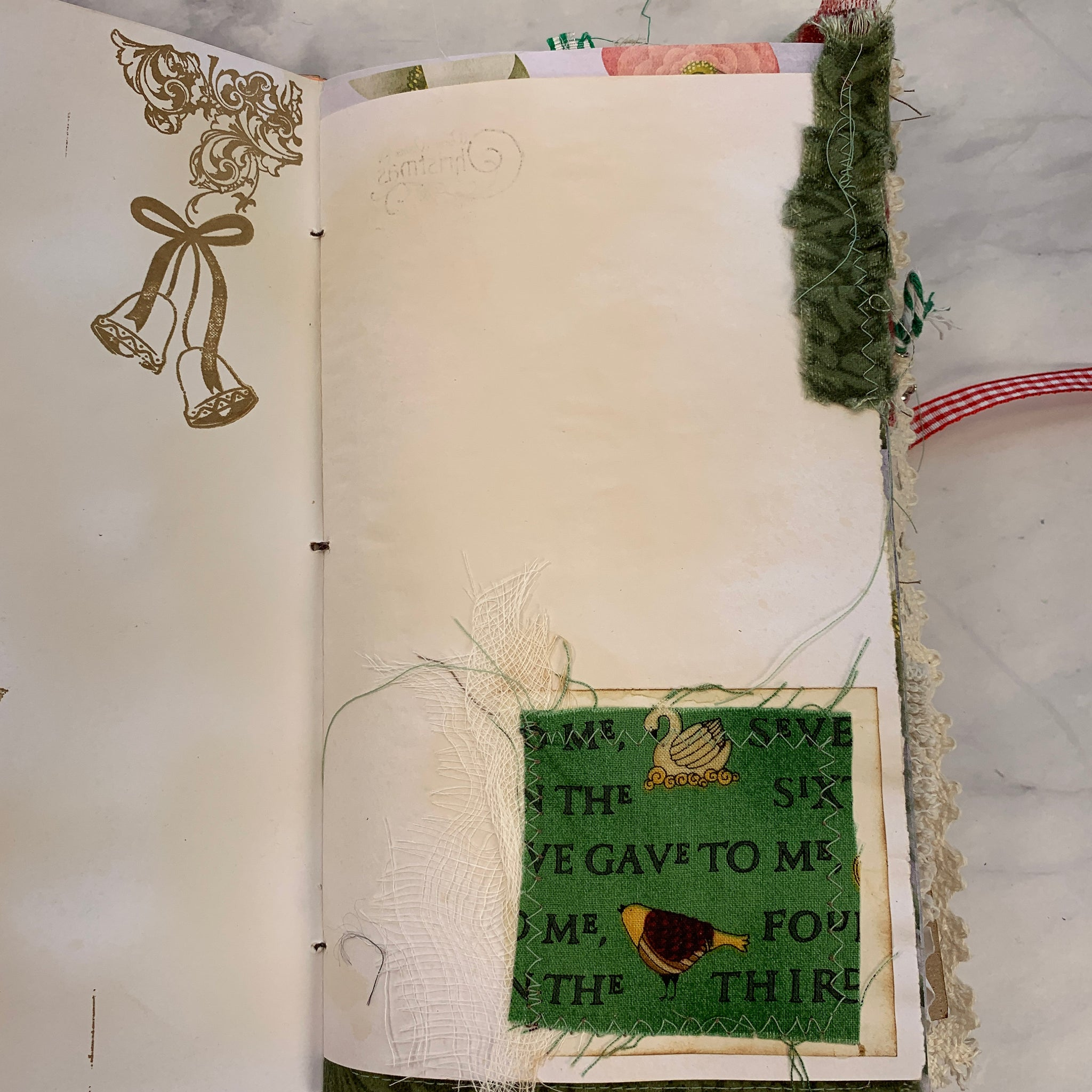 Christmas Book in a Bag Junk Journal by Claire Hulott