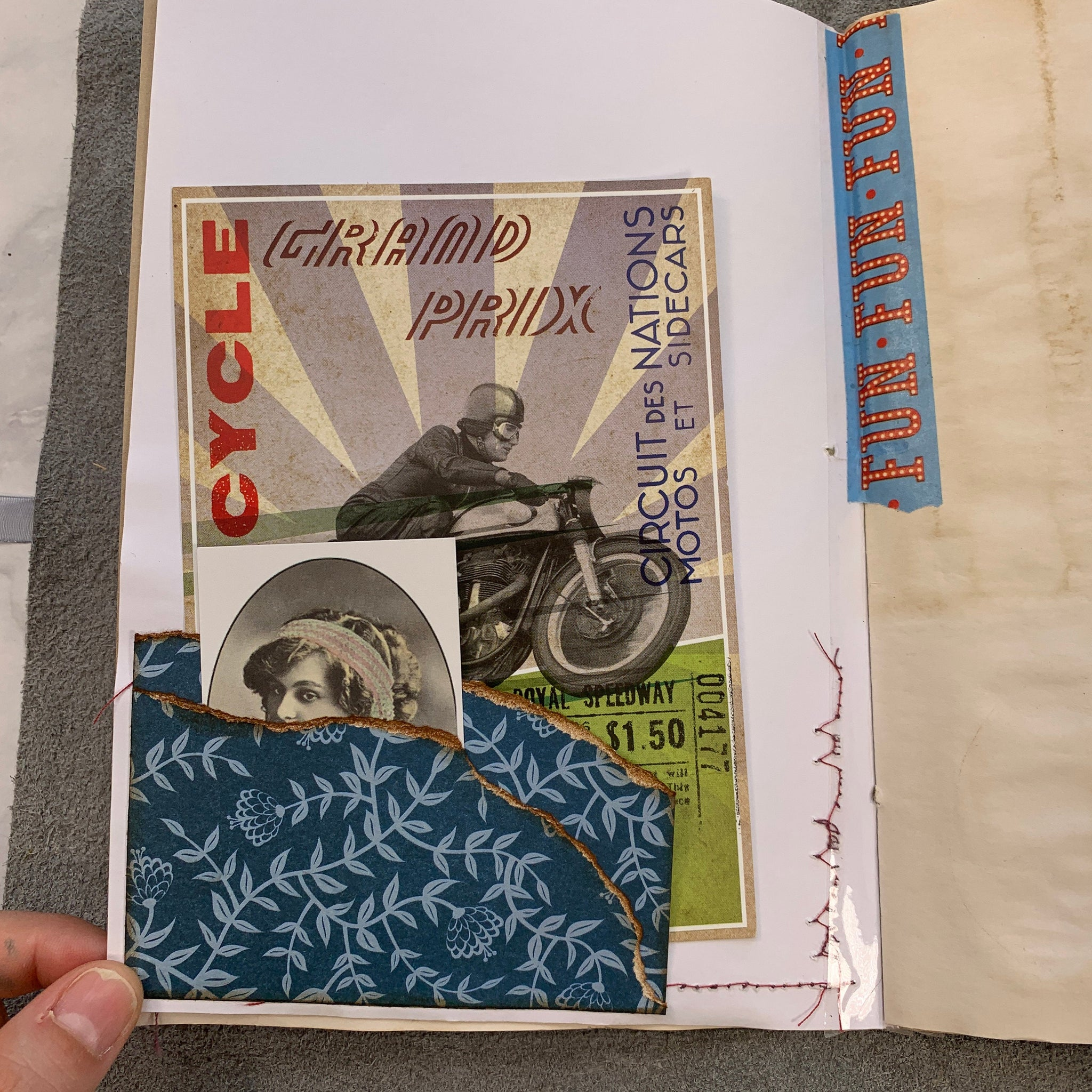 A Collection of Memories Junk Journal by Claire Hulott