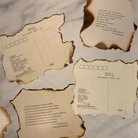 Distressed Poetic Postcards / Journal Cards - LZ