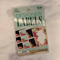 Pretty Petals Designer Labels - LZ