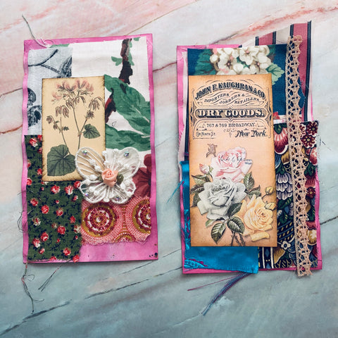 Collaged Junk Journal Cover Mats - LZ