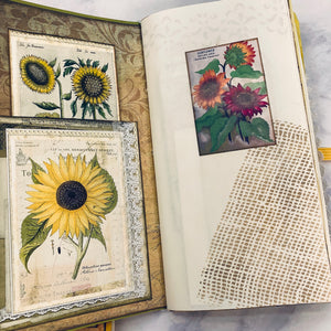 Sunflower Junk Journals set of 2  by Wendy Blanish