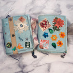 Light Blue Mini Junk Journal set of 2 by Yaris Gonzalez