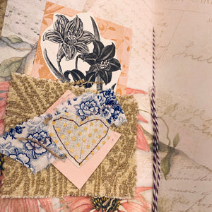 Rose Doily Junk Journal by Lisa Masquelier (Feb Challenge Journal)