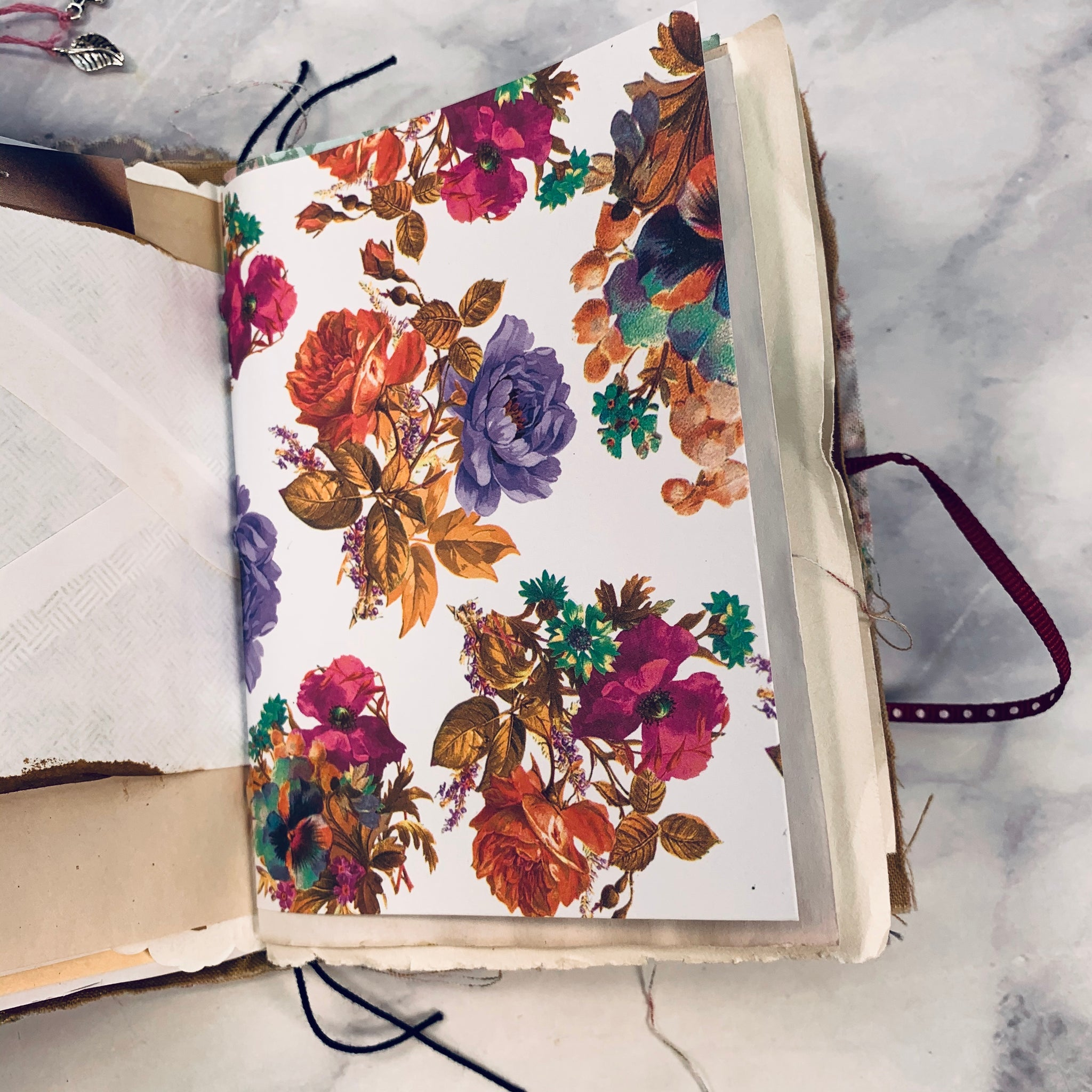 Soft Floral Mini Junk Journal set of 2 by Yaris Gonzalez