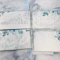 Blue Blossoms Stuffed & Stitches Envelopes set of 4 - LZ