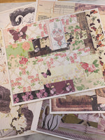 Printed Collage Sheets set of 6 - JH