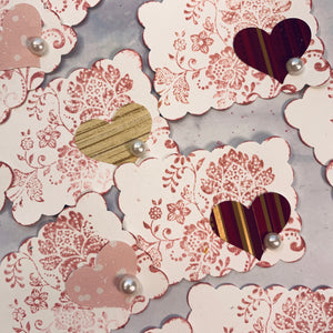 2 Inch Floral & Heart Labels - LZ