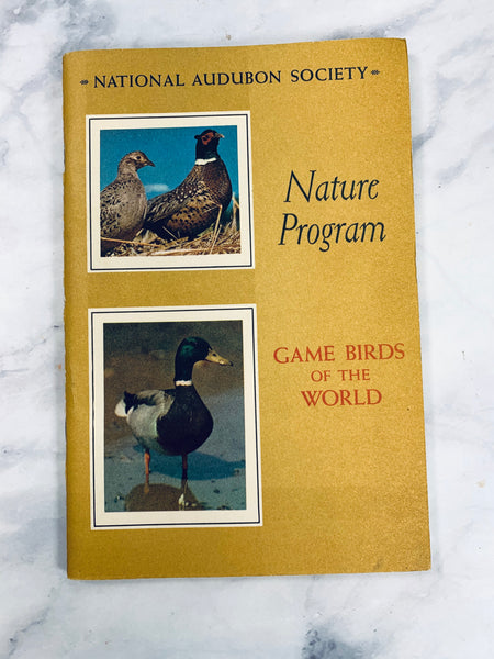 Audubon Nature Program Game Birds Vintage Booklet