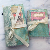 Set of 2 Fabric Junk Journals by Tamara Moore