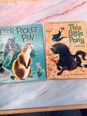 Vintage Children's Book Animals Lot of 2 - LZ