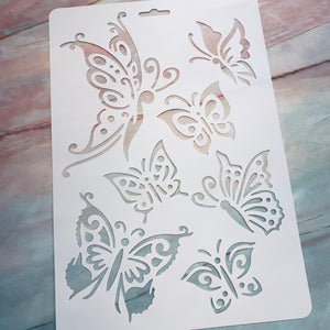Large 8x12 Butterfly Stencil - LZ