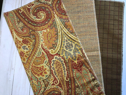 Sunset Paisley Upholstery Fabric Sample JH