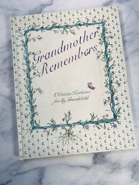 Grandmother Remembers Heirloom Book