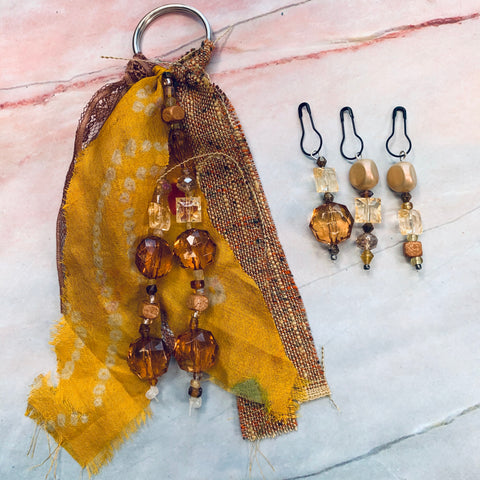 First Sunrise Beaded Tassel & Dangle Set - CZ