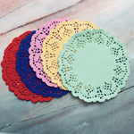 Multicolored Circle Paper Doilies set of 25- LZ