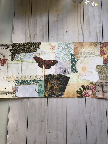 Book Page Collage Roll -5 feet long- JH