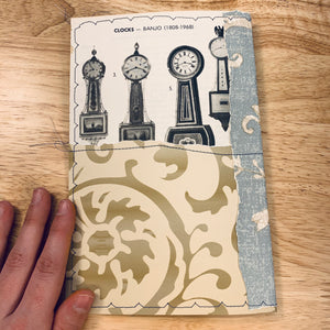 Black Clocks Stitched Journal Cover- LZ