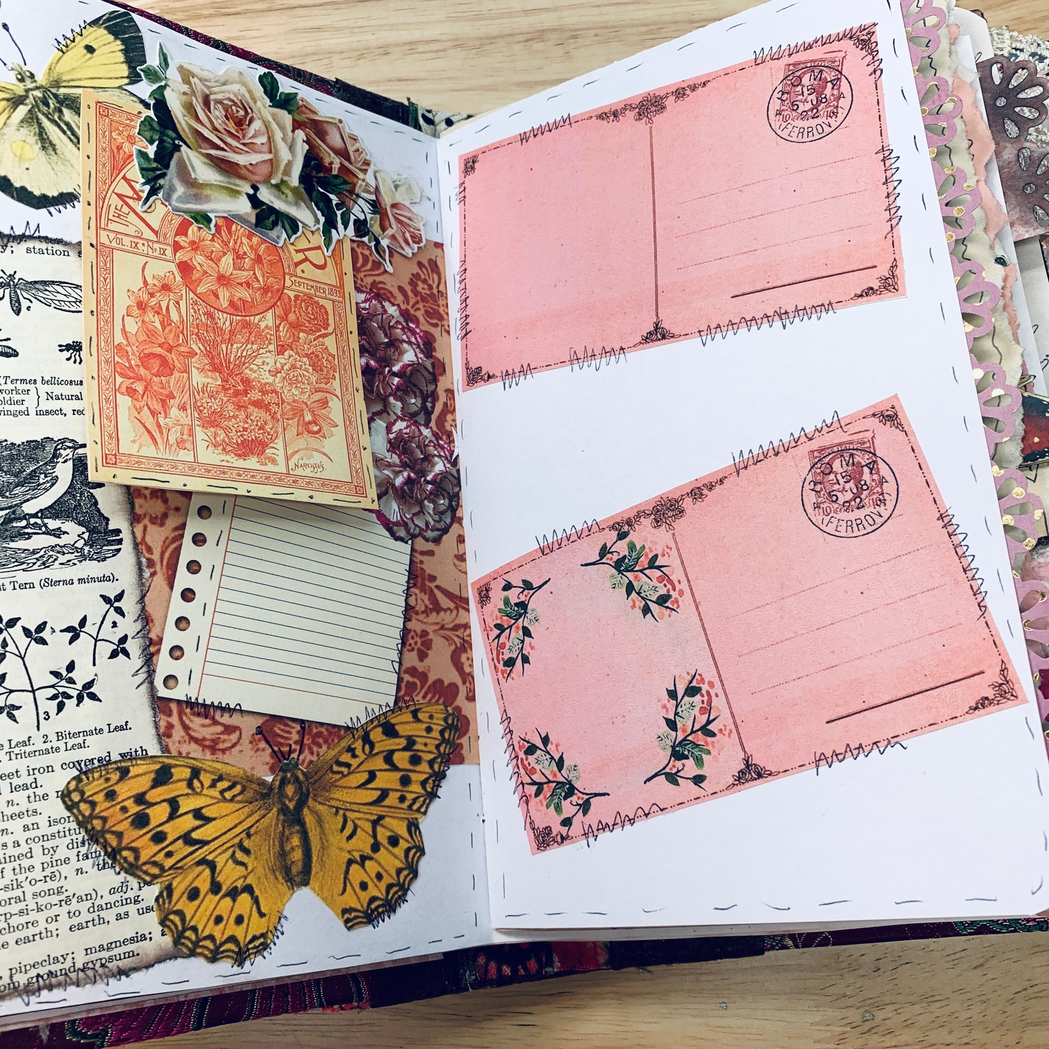 Pink Blooms Junk Journal by Yvette Quale (Feb. Challenge Journal)
