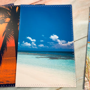 Paradise Island Stitched Journal Covers set of 4 - LZ
