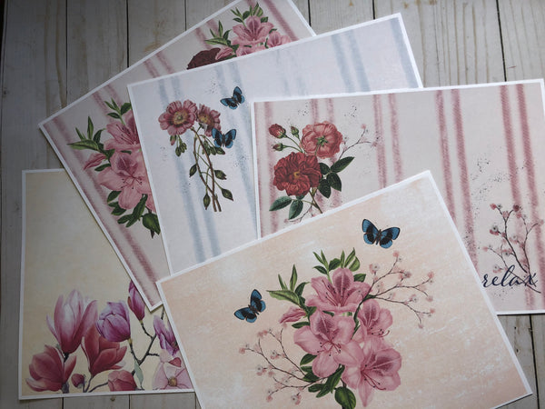 Pretty Florals PRINTED Digital - JH
