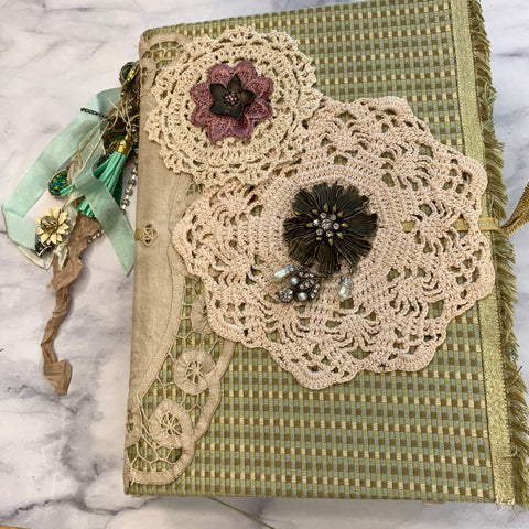 Gold & Doilies Journal by Vickey Phelps
