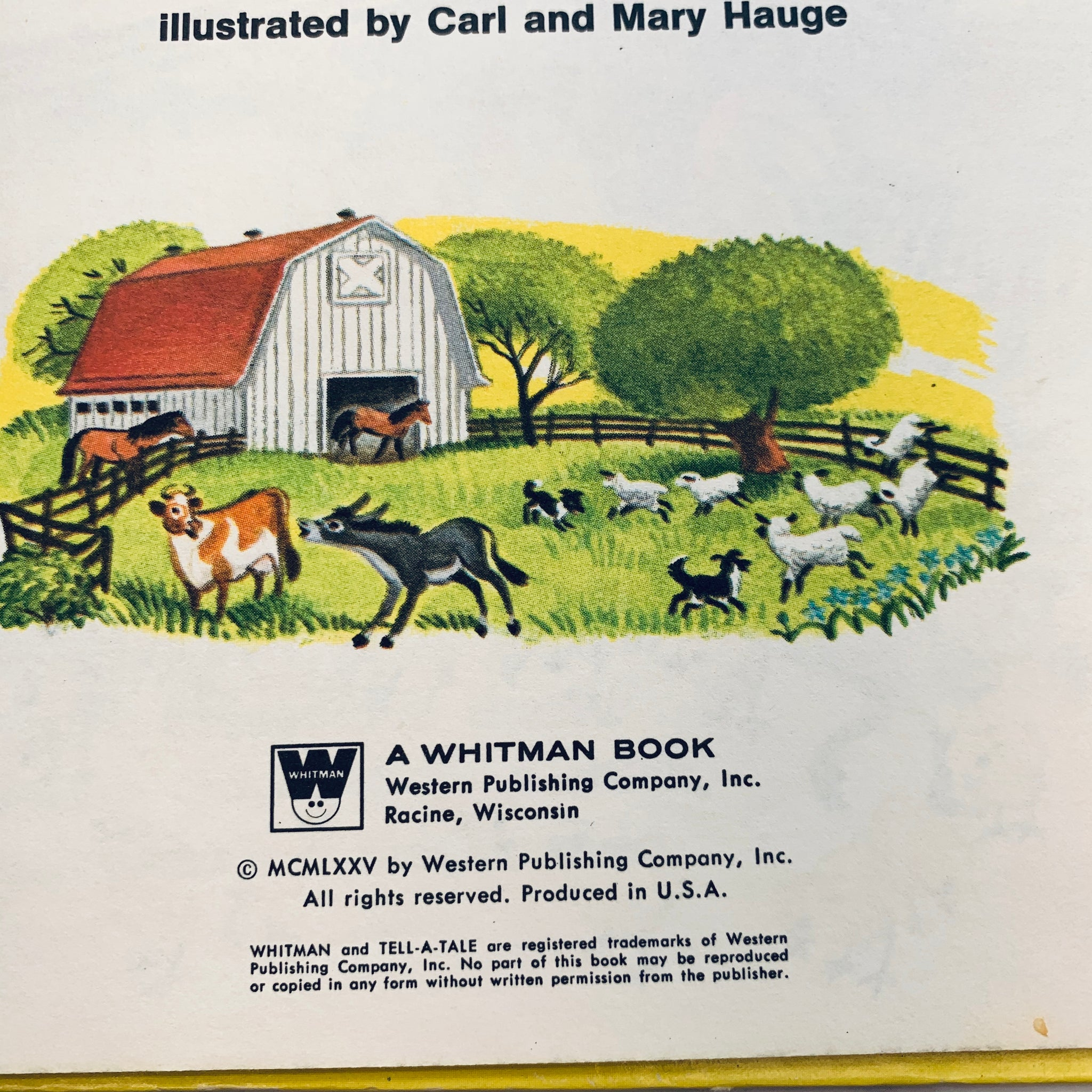 Vintage Farm Children's Book set of 2- LZ